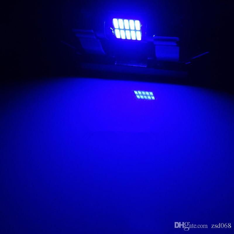 Bleu-31mm-10SMD BLANC-31mm-10SMD BLEU-36mm-12SMD BLANC-36mm-12SMD Ampoules festonnées LED Dôme de voiture Éclairage intérieur de lampe de route Lampe intérieure LED haute puissance