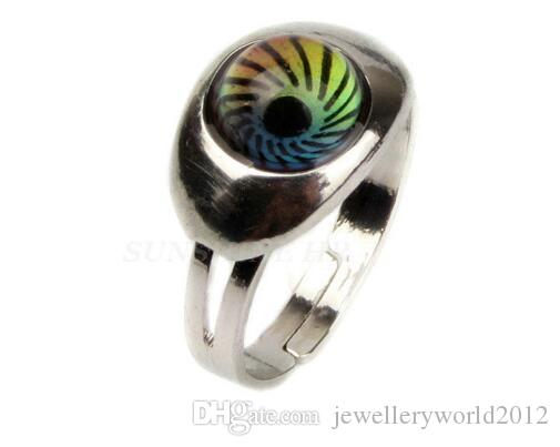 new fashion Creative Magic eye adjustable MOOD Rings stainless steel mood ring changes color to the temperature of your blood