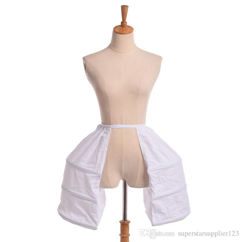 mittelalterlichen Kleid Doppel Pannier Krinoline Käfig Hoop Treiben Rococo Kleid Petticoat für viktorianischen Kleid Kleid