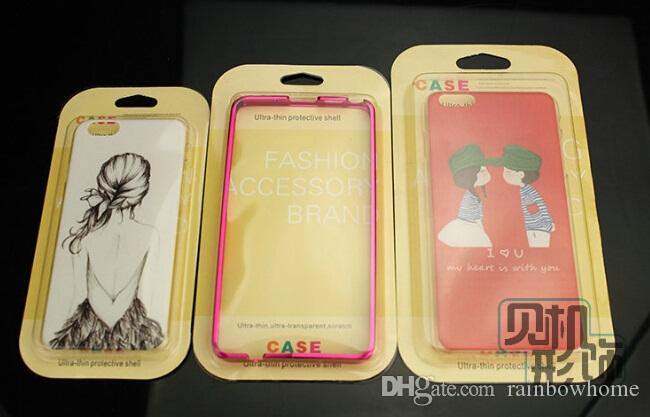 PVC paper Retail package phone case empty boxes box Blister paper card for iphone 5S 6 plus Samsung Galaxy S6 S5 note 4