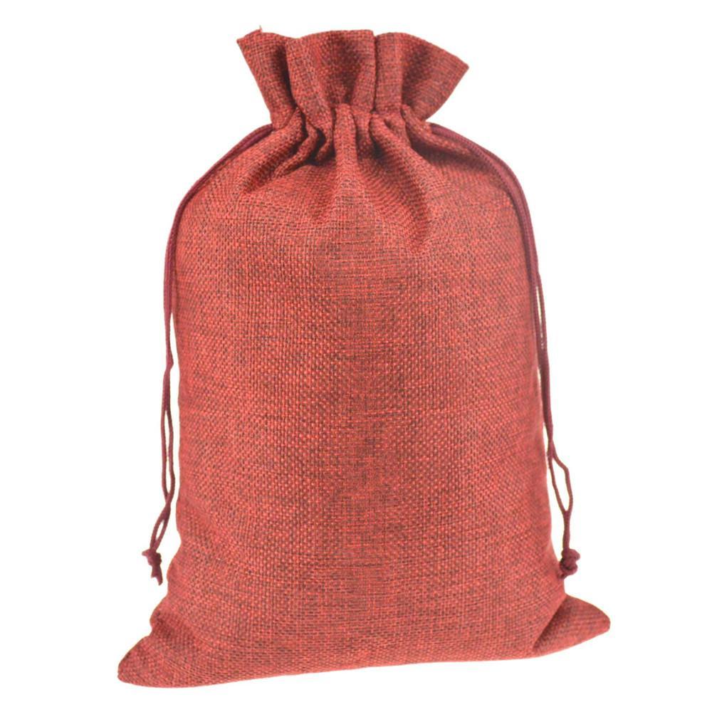 20x30cm Gift Jute Burlap Drawstring Sacks Storage Bags for Toys Sock ...