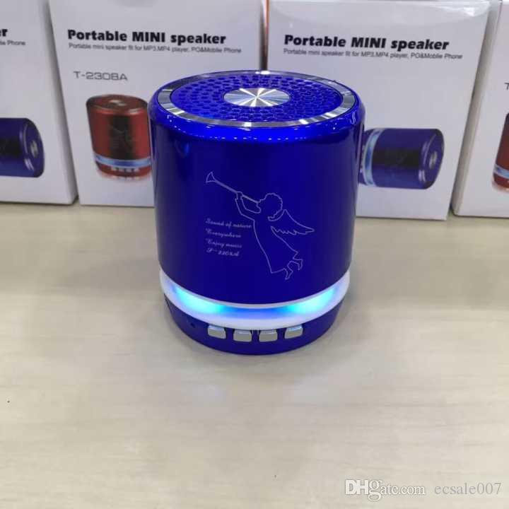 T-2308A Angel bluetooth Led Speakers USB Speaker computer phone MP3 player metal material