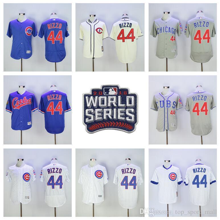 f80b00229 ... 2017 16 17 Baseball 44 Anthony Rizzo Jersey 2017 World Series Chicago  Cubs Jerseys Postseason Flexbase ...