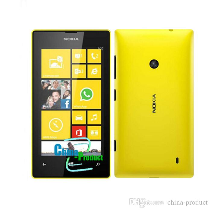 Refurbished Original 4inch Nokia lumia 520 cellphone 512M/8G dual camera dual core GPS Windows OS unlocked phone