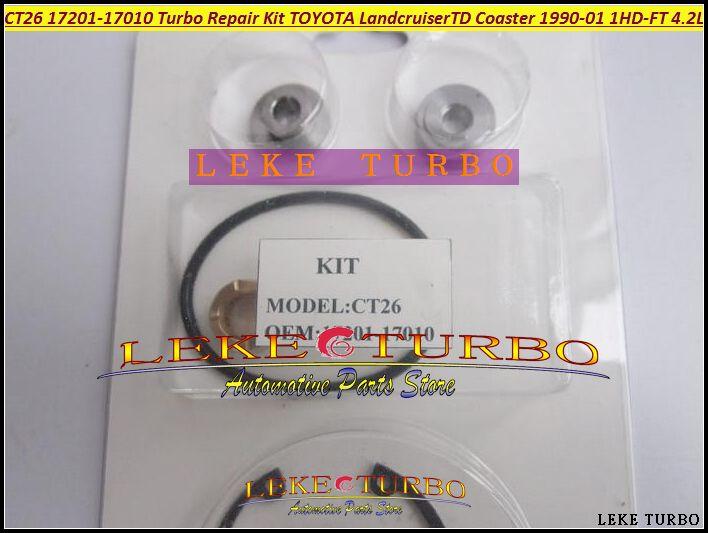 Turbo Repair Kit rebuild For TOYOTA Landcruiser TD Coaster 4.2L 1990-01 160HP 1HDT 1HD-FT CT26 17201-17010 Turbocharger (2)