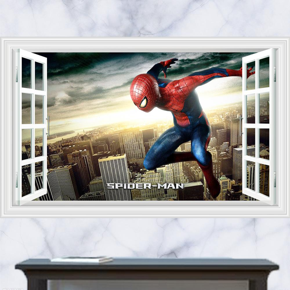 3d generic windows movie defeat the enemy spider man wall decal 3d generic windows movie defeat the enemy spider man wall decal decor sticker kindergarten living room vinyl inspiration art stickers for house walls
