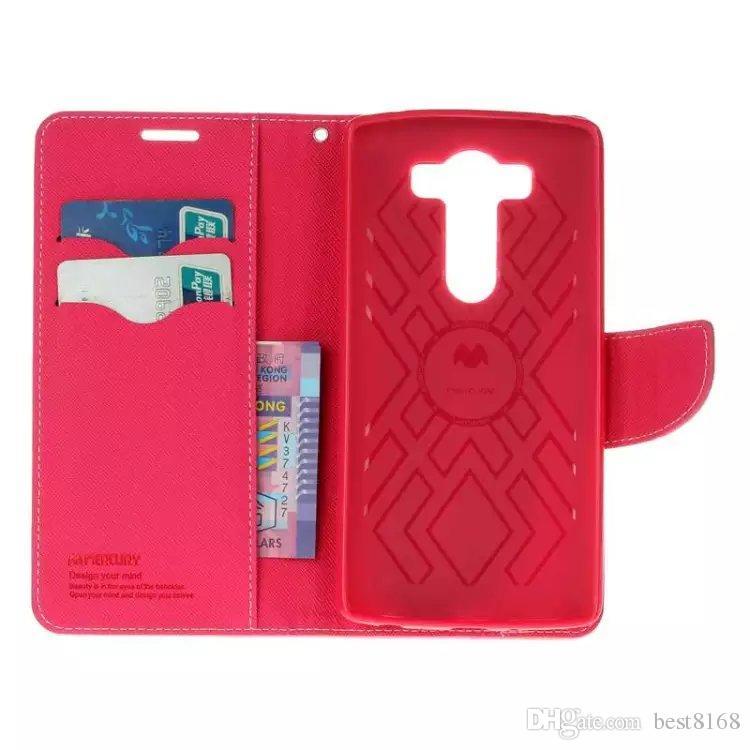 Case Wallet Leather Korea Hybrid Vertical Flip Soft TPU Cover Money Pocket Card Stand Holder For LG V20 LS775 V10 K8 K10 K7 G5 G4