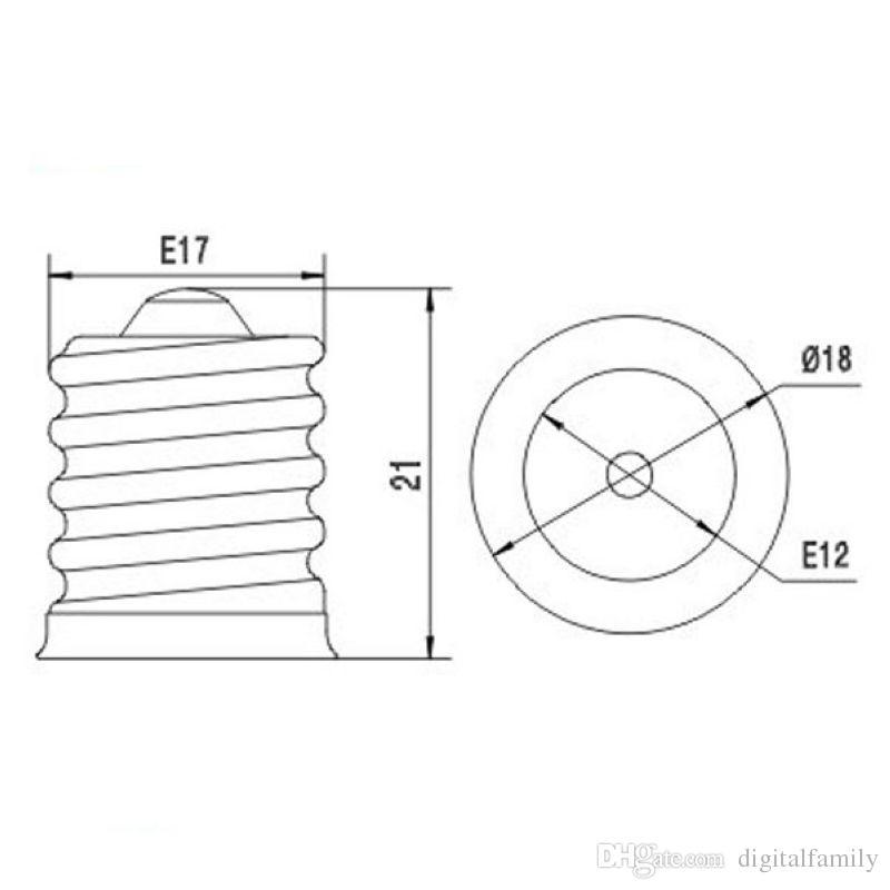 E17 à E12 E14 Base Adaptateur Convertisseur Support de lampe Adaptateur de lampe