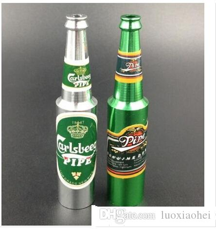 Bottle shape Metal Pipe pipes steel Magic Small Wine bottle Smoking Pipe Cool Gift Promotion