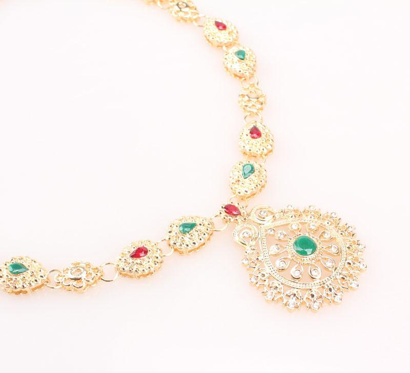 Set di gioielli da sposa di alta qualità placcato in oro placcato africani