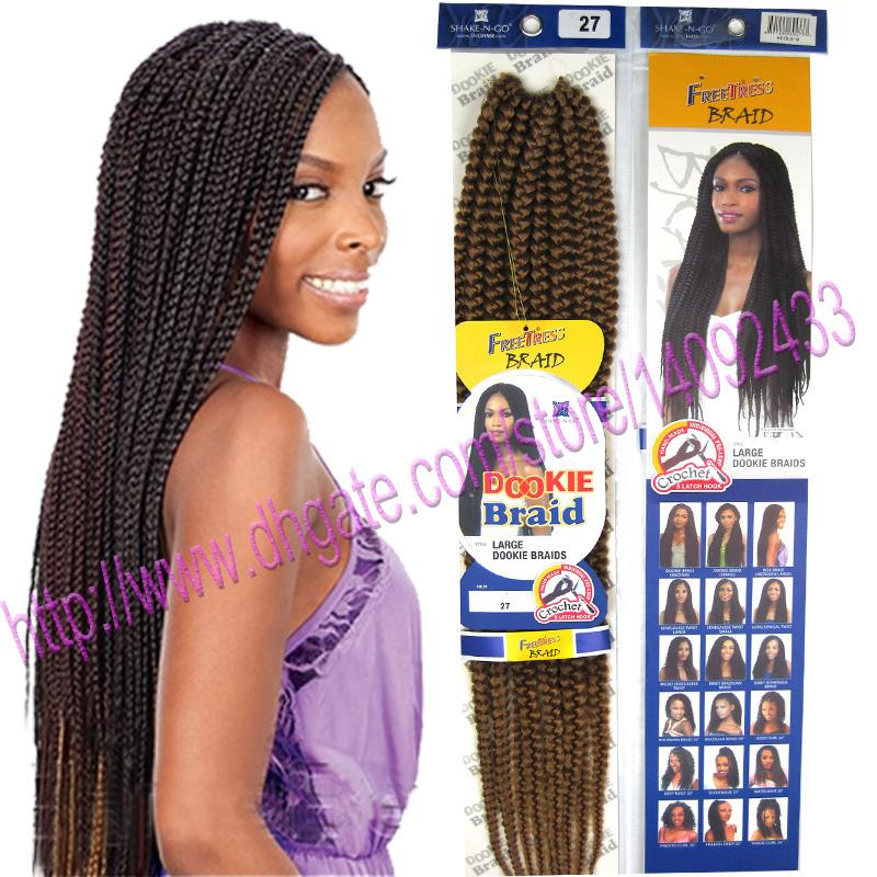 Crochet Rope Box Braid Hair Extensions Kanekalon Fiber Synthetic