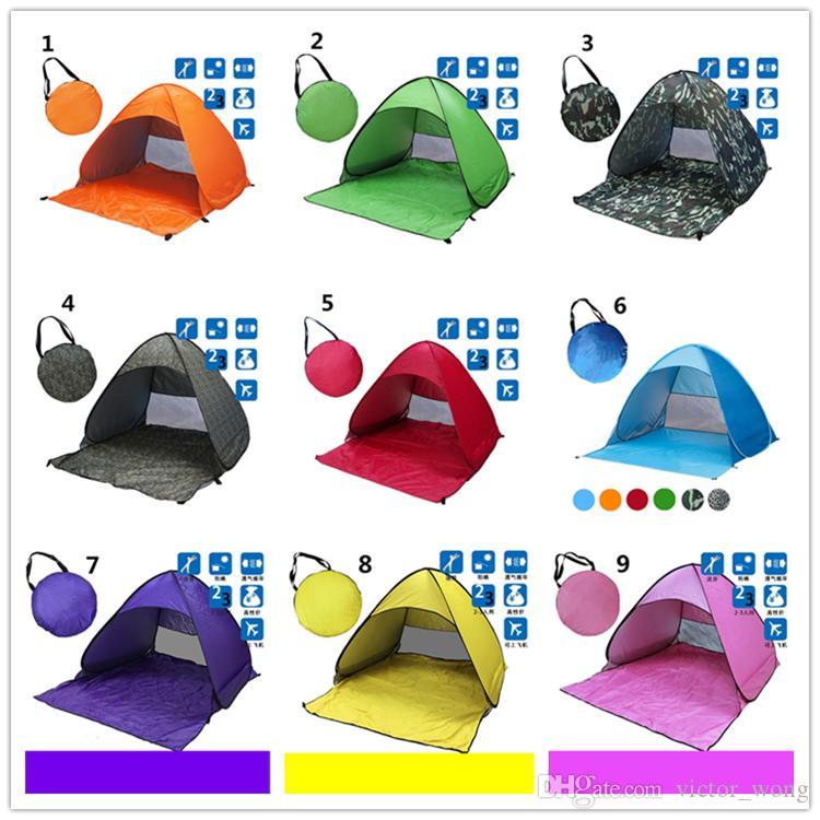 Кемпинг палатки 13 стиль на открытом воздухе палатки кемпинг укрытия для 2-3 человек УФ - защита палатка диагональные крепления Тип 10 шт DHL быстрая доставка