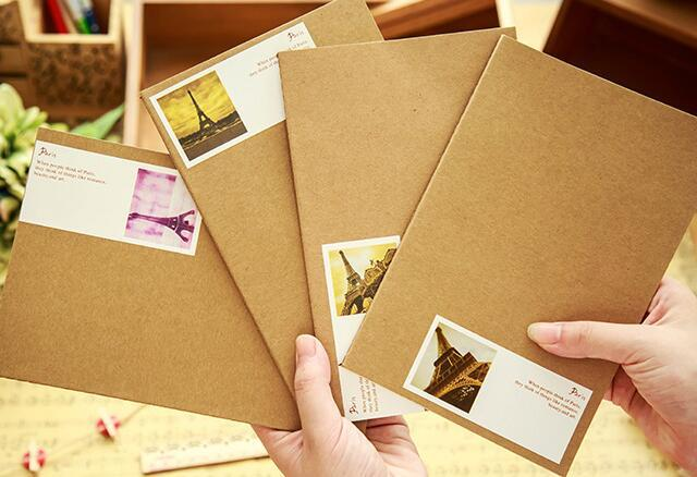 new korean stationery office school supplies retro style vintage notebook note book notepad sketchbook diary