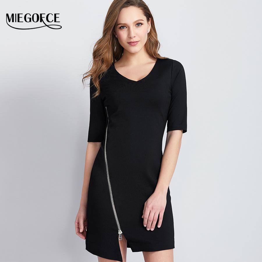 e02da303d5ab Wholesale Women Brief T Shirt Office Casual Shot Shirt Dress Deep V Neck  Bodycon Pencil T Shirt European Style MIEGOFCE New Collection T Shirt T Tee  Shirts ...