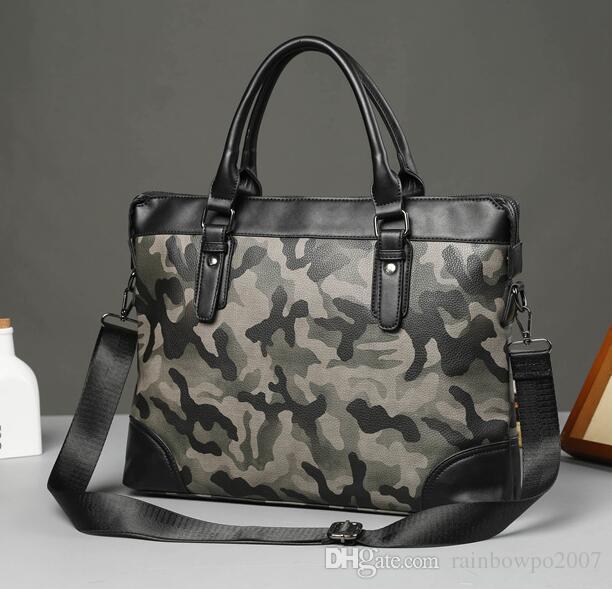 Sac Metrosexual Mode En Business Marque Camouflage Casual Hommes Essential À Cuir Main vOn0Nwm8