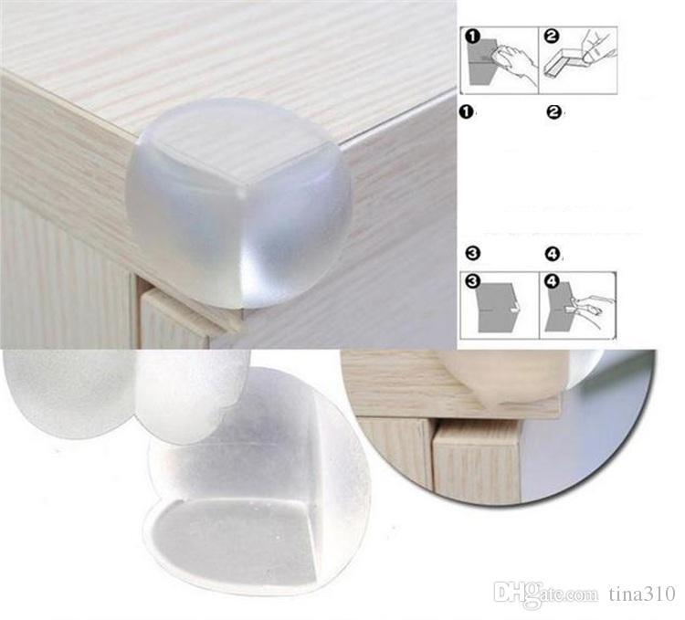 Babysicherheitsprodukte Tisch Eckkante Schutzhülle Kindersicherheits-Schutz-Silikon-Antikollisionsrand Eckenschützer Runde Cushion2781