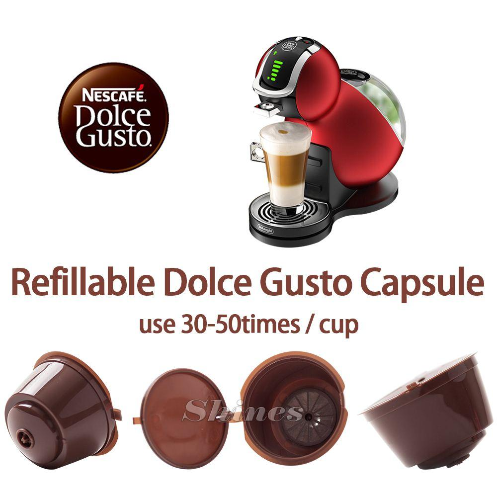 2018 pack refillable dolce gusto coffee capsule nescafe dolce gusto reusable capsule dolce. Black Bedroom Furniture Sets. Home Design Ideas