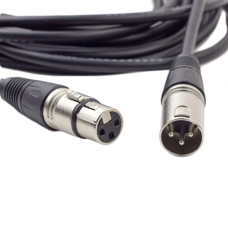 2019 3 pin cable silver xlr male to female microphone mic dmx stereo rh dhgate com