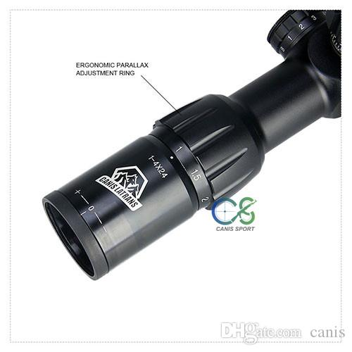 Canis Latrans 1-4x24IRF rifle scope Waterproof 300mm deep and Fog proof for hunting and outdoor use CL1-0278