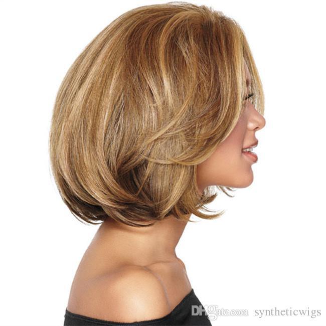 WoodFestival harajuku bob curly wig synthetic ladies ombre blonde hair wigs women heat resistant fiber short wig peruca lolita