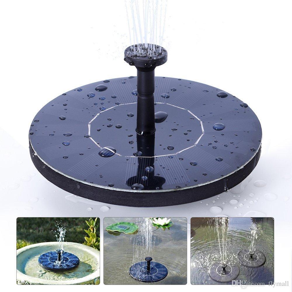 Fuente de agua solar Bomba de agua flotante 7V / 1.4W Panel solar Plantas de jardín Fuente de agua Fuente de agua para jardín Patio Estanque Cascadas