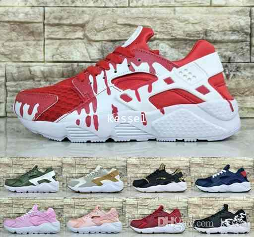 new arrival 59f17 345b2 2017 New Air Huarache Ultra Running Shoes For Women Men,Mens Customise Rose  Gold Pink Red Blue Huaraches Sports Sneakers Huraches Shoe 36-45