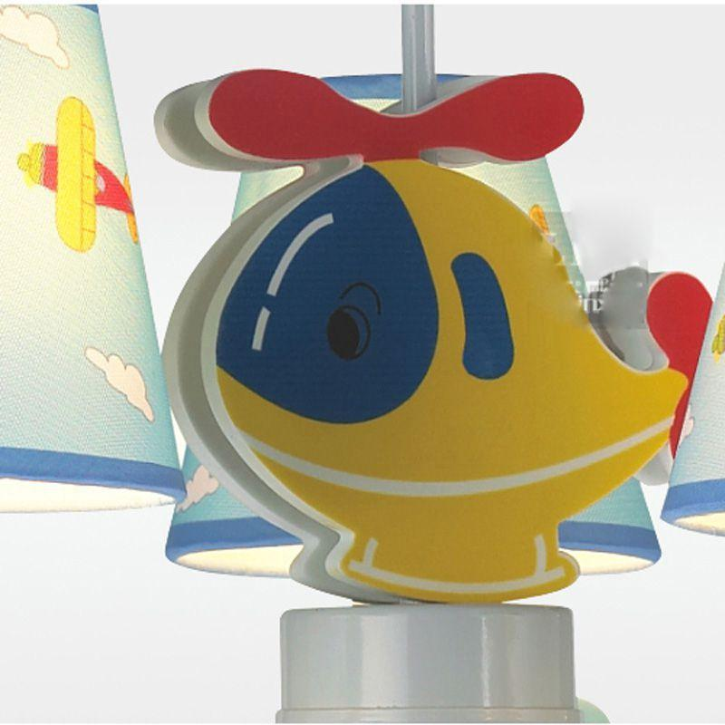 Cartoon Children's Room Aircraft Pendant Lights Cute Blue Kids Room Pendant Lamp Bedroom Hnaging Light Chandelier