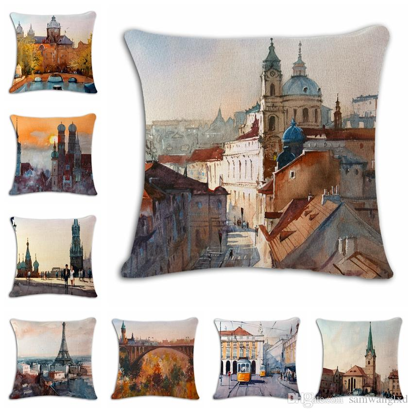 40 Types 40D Scenery Decorative Cushion Covers Bright Colorful Inspiration Pillow Types Decorative