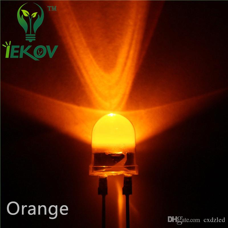 10mm Orange/Amber 0.5W High Power LED Light Round top Ultra Bright 10MM Emitting Diodes Led Lamp Wholesale Retail