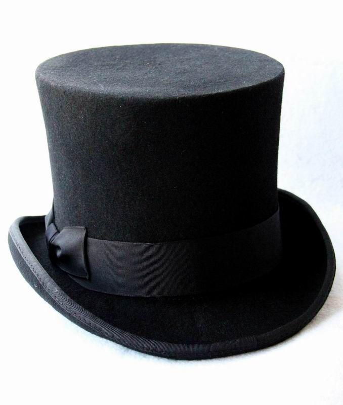 Wholesale 13.5cm5.3inch Black Steampunk Hat DIY Mad Hatter Top Hat  Victorian Vintage Traditional Wool Fedoras Hat Uncle Sam Beaver Hat UK 2019  From Hoganr 0911b01cea33