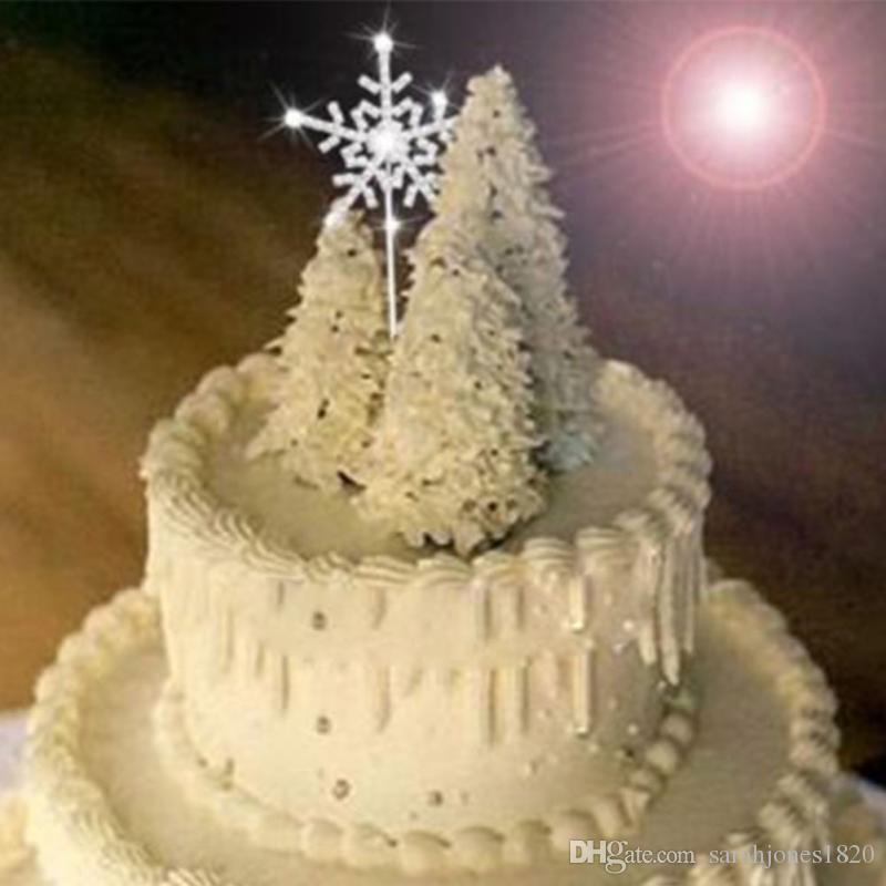 Snowflake Wedding Cake Toppers. snowflake winter wedding cake topper ...