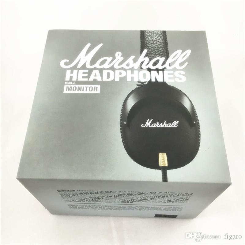 Marshall MONITOR Kopfhörer Noise Cancelling Kopfhörer Deep Bass PK Studio 2.0 Monitor Rock DJ Hallo-Fi Kopfhörer Kopfhörer mit Mic Retial Box