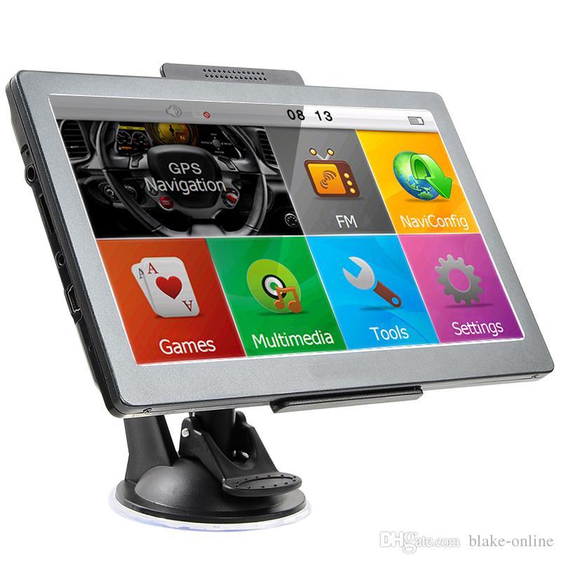 HD 7 Zoll Auto GPS Navigation LKW Navigator Touchscreen Bluetooth AVIN Auto GPS WinCE MP4 FM Transmitter DDR256MB 8GB 3D Karten