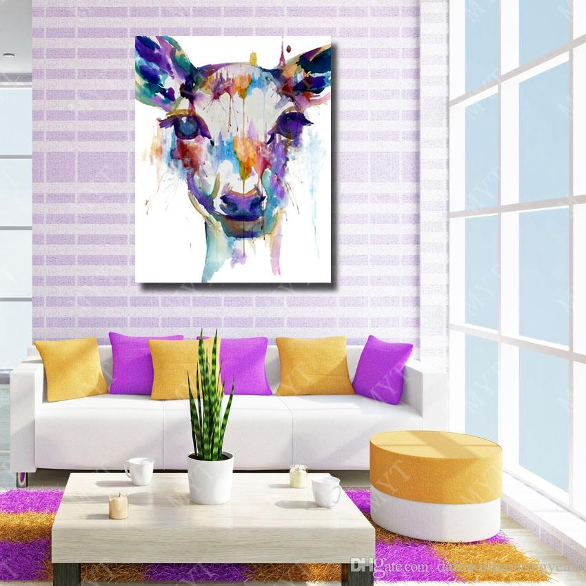 Wall Design Beautiful Abstract Deer Oil Painting Wall Art Decorative Bedroom Wall Pictures Animal Oil Painting