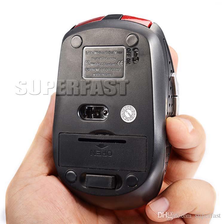 Mouse wireless USB ottico 2.4GHz Mouse ricevitore USB Smart Sleep Mouse a risparmio energetico computer Tablet PC Desktop portatile con scatola bianca