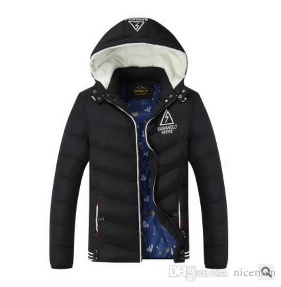Wholesale- Brand Clothing 2016 Newest Men's Warm Fashion Hooded Parkas Winter Jacket Men Causal Slim Cotton For Men Overcoat