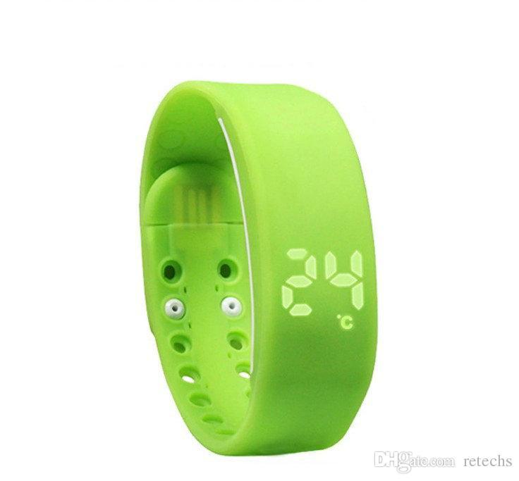 Novo W2 LED À Prova D 'Água Relógio Inteligente Pulseira Monitoramento de Sono Pulseira Pedômetro Esportes Pulseira 3D Android Android Equipamentos Inteligentes navio Livre