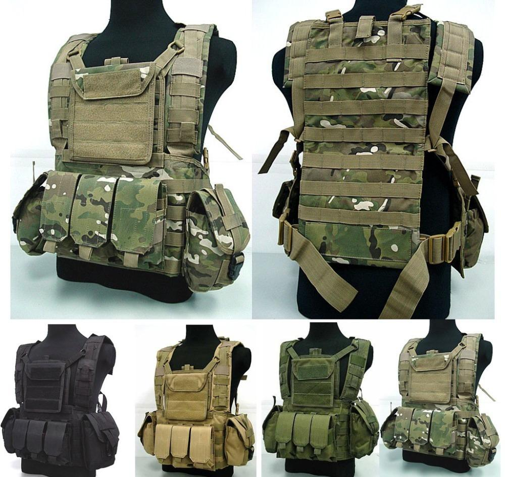 Rifle Airsoft Vest Combat Molle Rig Paintball Chest Usmc Mag Tactical Pouch Canteen Hydration Harness W Multicam Rrv l3TJKc15uF