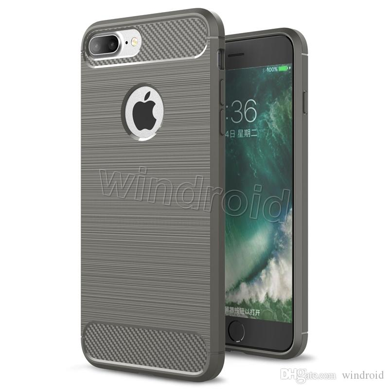Carbon Fiber TPU Case For Iphone X 8 7 Plus i8 i5 Hybrid Armor Cases For Galaxy S7 s7 edge Shockproof Combo Texture Brushed Back Cover cheap