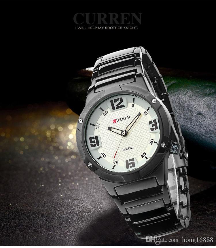 2016 CURREN 81111 Men fashion DATE Watches Stainless Steel Brand boys Wristwatches Man Fashions Clock Analog Quartz Dress Men's Watches