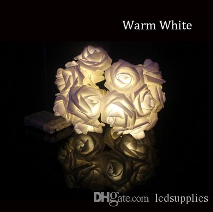 30 LED Pembe Gül Çiçek Peri Düğün Parti Noel Sevgililer günü Dekor Dize Işık Bahçe Dekorasyon