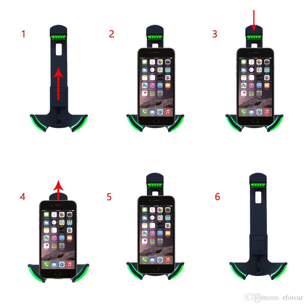 3.5-6.3 인치에 대 한 거 위 목 자동차 전화 홀더 핸드폰 탑재 충전기와 자동차 전화 마운트 담배 라이터 차량 2 USB 충전기