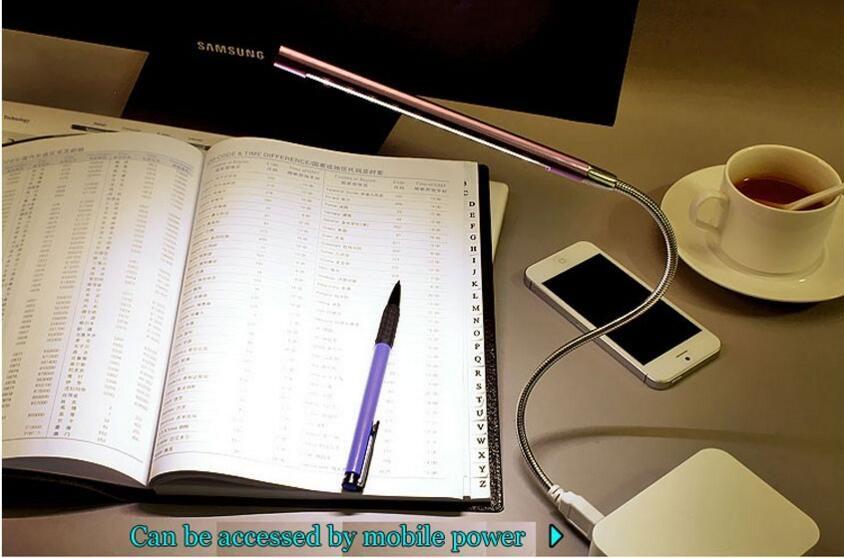 Alta Qualidade Flexível Ultra Brilhante Mini 10 LEDS Lâmpada USB Luz PC Computador Portátil Conveniente Para Ler Gadget Frete Grátis