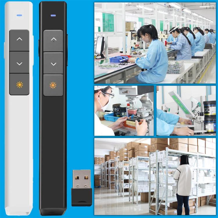 1 stücke Neue Stil 2,4 GHz 100 mt Knorvay USB Drahtlose PPT Fernbedienung Laserpointer Presenter PC powerpoint PPT Presenter Seite drehen Stift