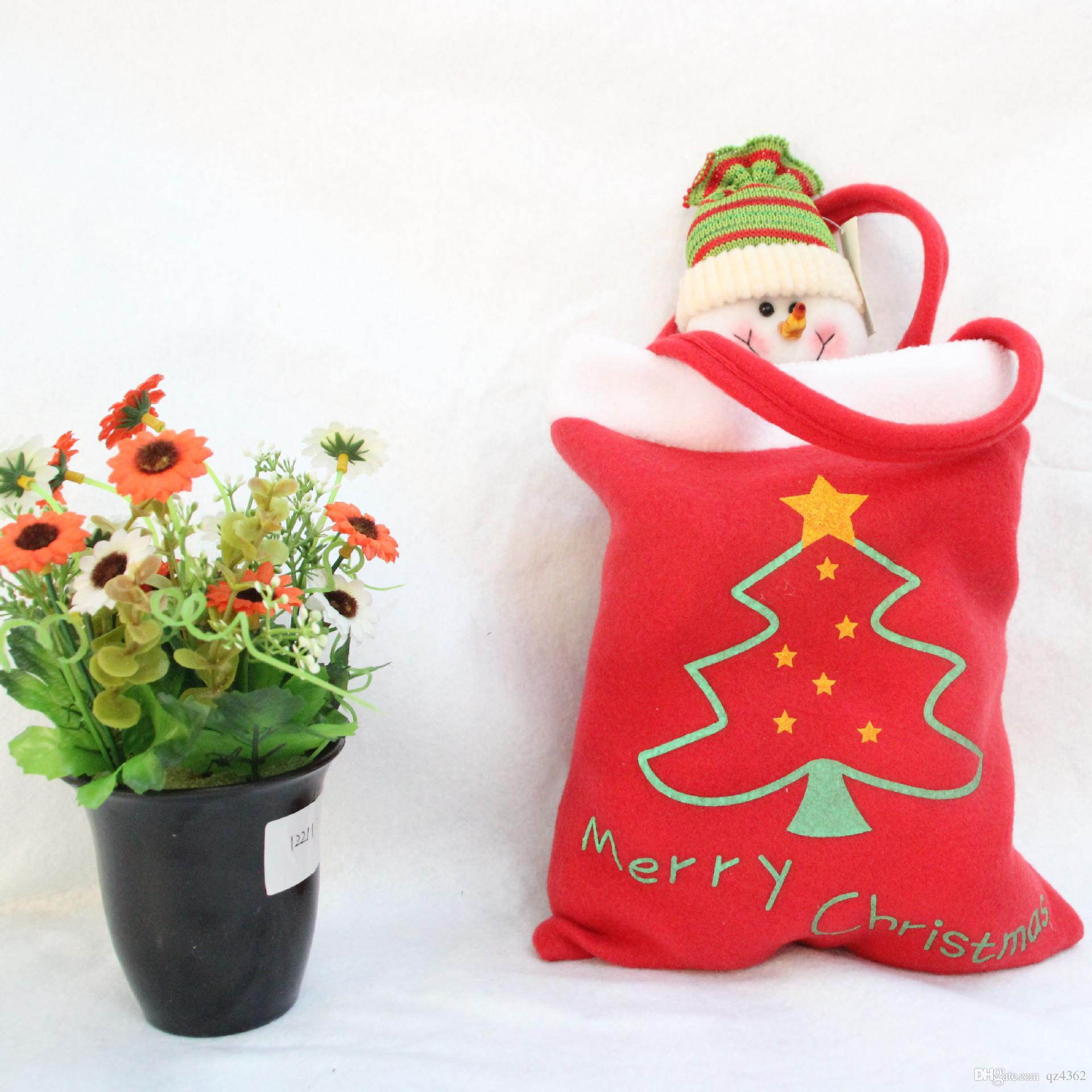02af375f29bb Creative Christmas Tree Pattern Santa Claus Candy Bag Handbag Home Party  Decoration Gift Bag Christmas Supplie Christmas Decorating Themes Christmas  ...