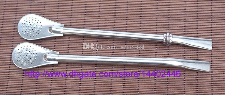 DHL LIBERA il trasporto 200 pz 16 cm Filtro In Acciaio Inox Bombilla cannucce filtro bombilla paglia Cucchiaio Yerba mate Zucca Tea Filtro