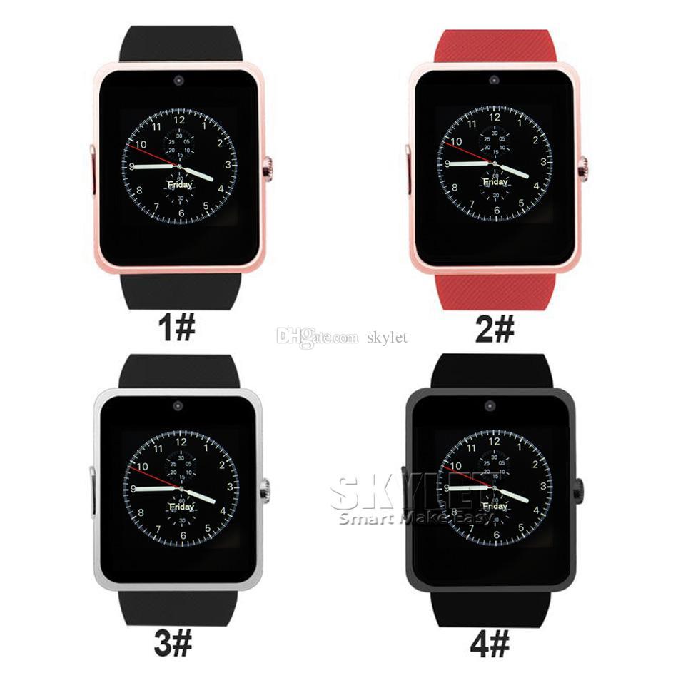 GT08 Bluetooth Smart Watch mit SIM-Kartensteckplatz und NFC Health für Android Samsung und Smartphone-Armband mit Paket