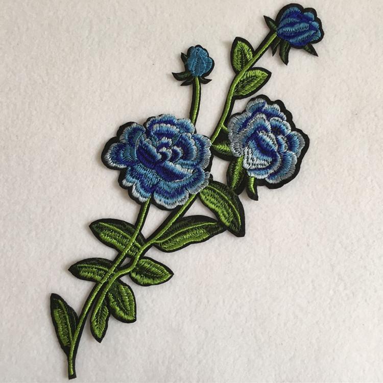 Işlemeli yama için 1 parça dikiş çiçekler aplikler dikmek-DIY İşi patchwork aksesuarları zakka