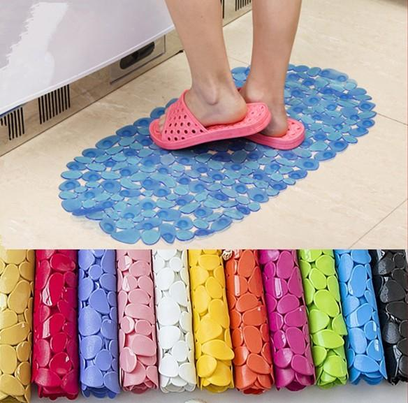 2019 Oval Pebble Pvc Bath Mat Massage Non Slip Shower Carpets Home