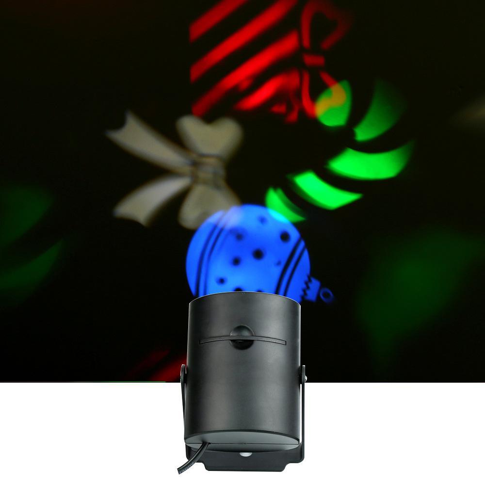 AC85-260V 4W Mini LED RGB Lampada da palco effetto luce con 4 carte multi-pattern intercambiabili la festa di compleanno Decorazione di Halloween